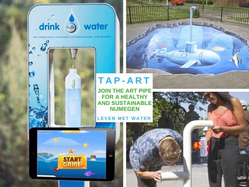 Tap-Art collage - Sustainable Nijmegen - Join the pipe