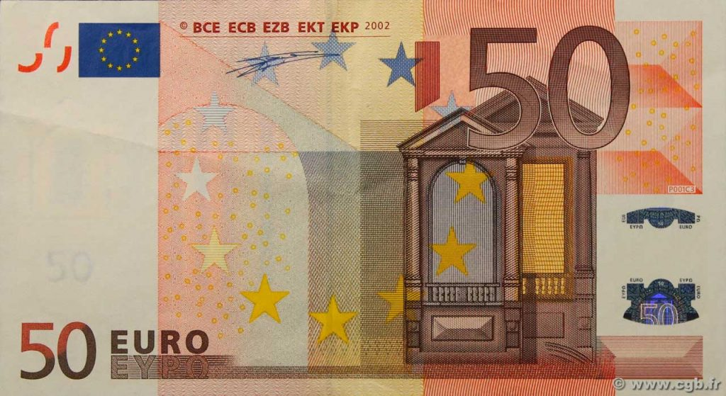 50 eurobiljet